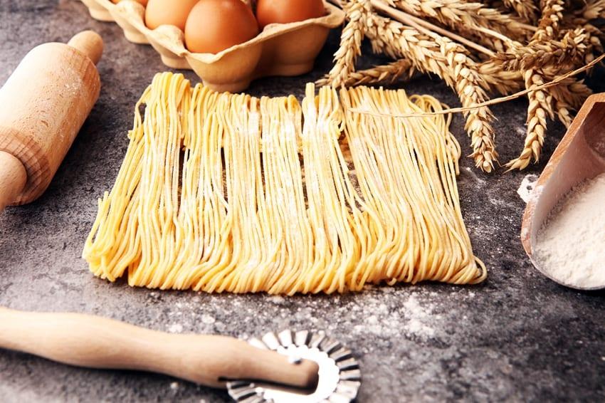 Egg based pasta