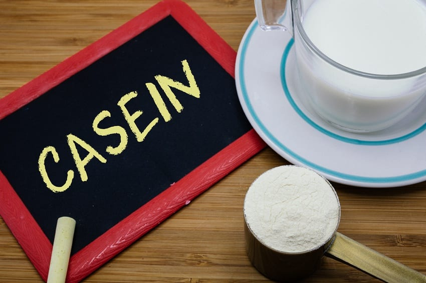 Casein is produced directly from animals