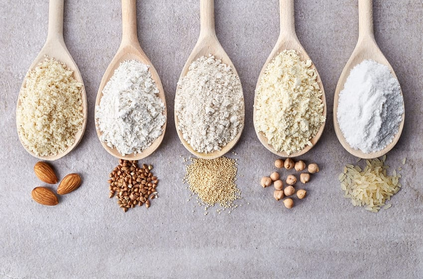 Different varieties of flour