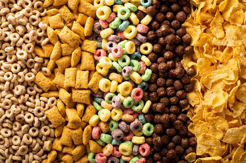 Non vegan cereals