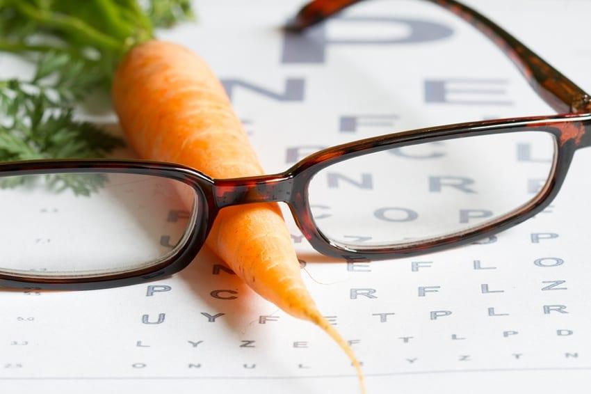 Carrots improve eyesight