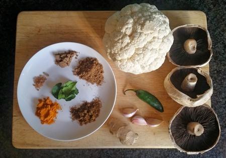Easy Vegan Curry Ingredients