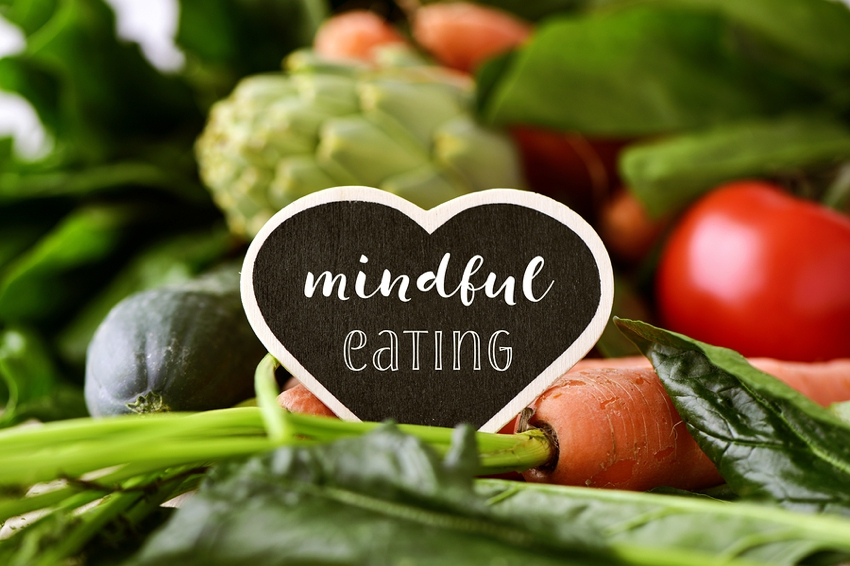 Mindful eating sign