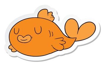 Happy Fish Sticker