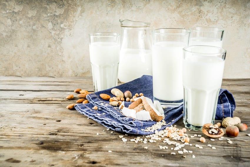 Vegan milk alternatives