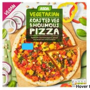 Asda Vegetarian (vegan) roasted veg and houmous pizza