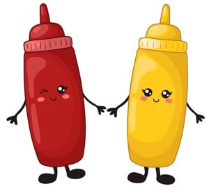 Ketchup & Mustard Cartoon