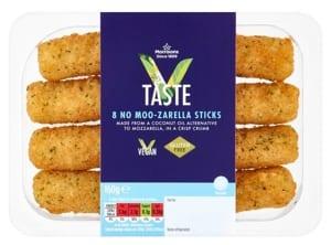 Morrisons vegan no moo-zarella sticks