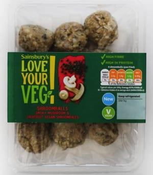 Sainsbury's Love Your Veg! Shroomballs