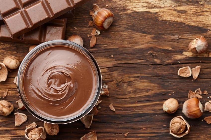 Homemade hazelnut chocolate spread