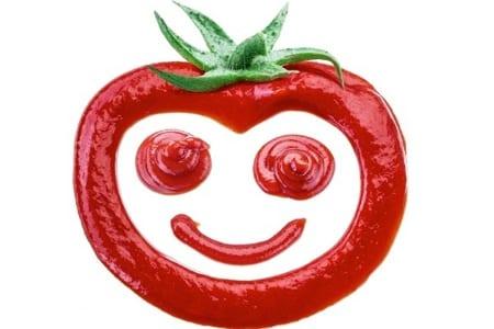 Tomato ketchup smile