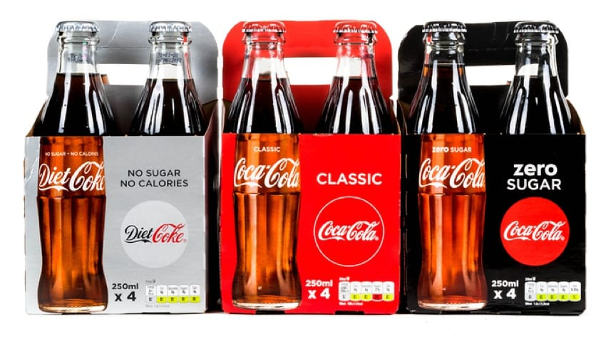 Diet, classic & zero sugar Coca Cola are all vegan friendly