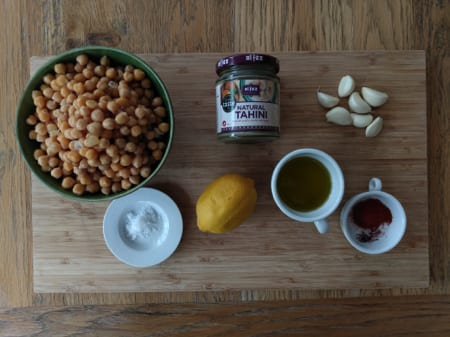 Vegan Hummus Recipe Ingredients