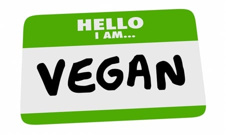Vegan name tag