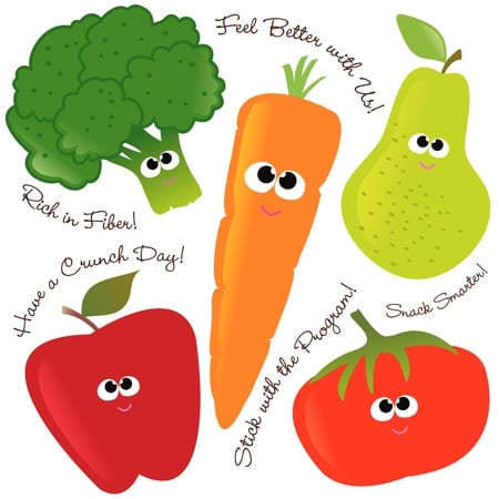Vegetable cartoons