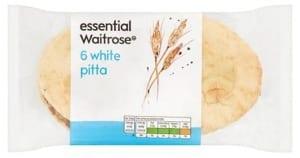 Waitrose Essential White Pitta