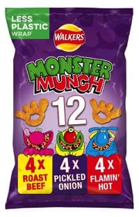 Sadly none of the Monster Munch range are vegan
