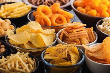 Selection of crisps