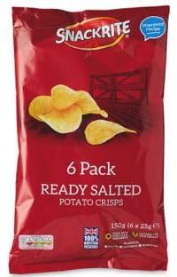 Aldi's crisps are under the Snackrite brand