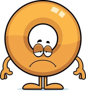 Sad cartoon doughnut