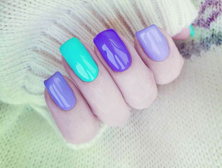 Shellac gel nails