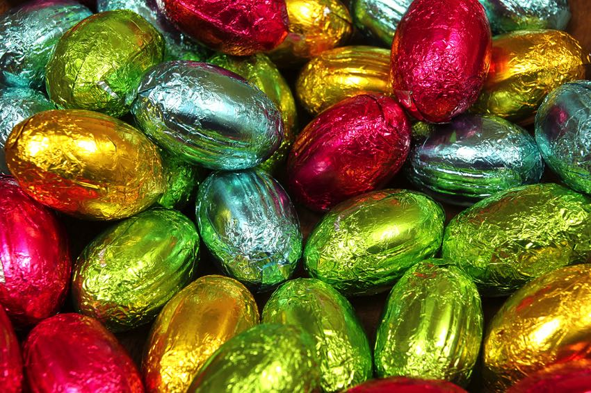 Standard Easter eggs