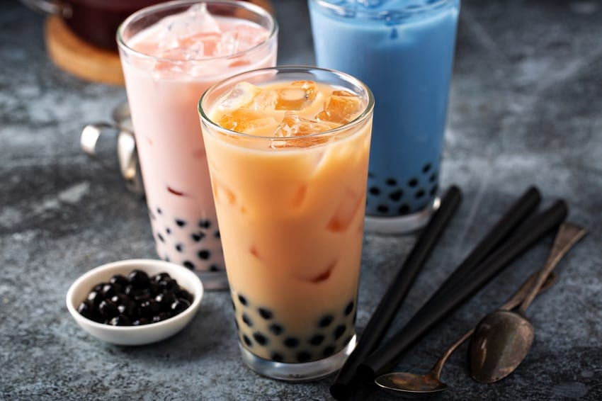 Milky bubble tea