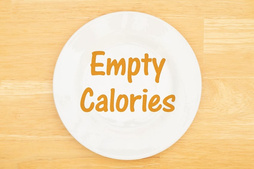 Empty calories on a plate