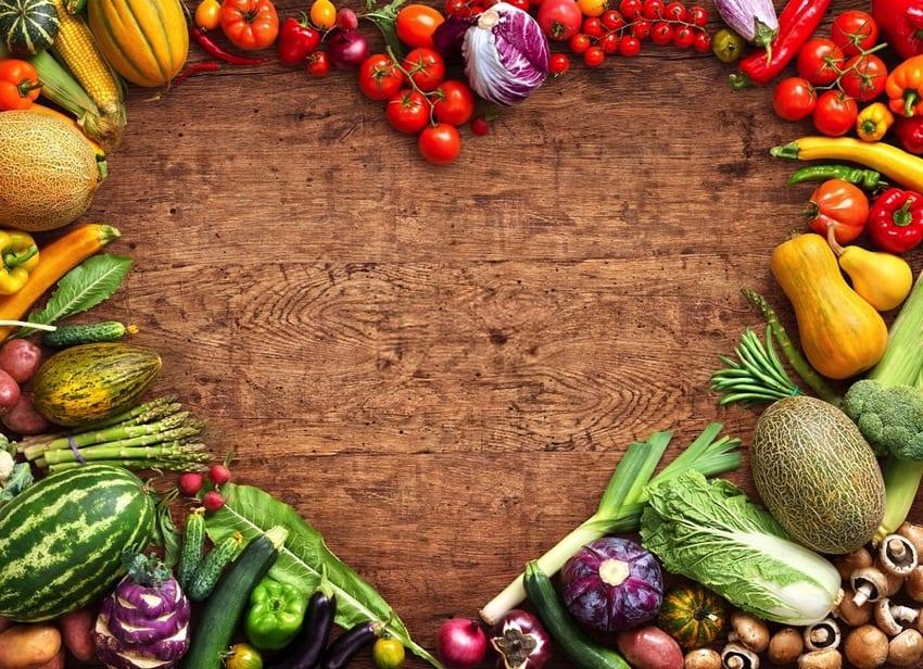 Vegetables fruit heart