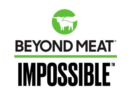 Beyond Meat & Impossible Foods logos