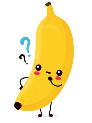 Confused banana cartoon
