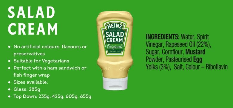 Heinz Salad Cream Overview