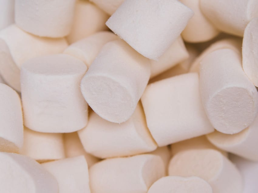 Marshmallow pile-up