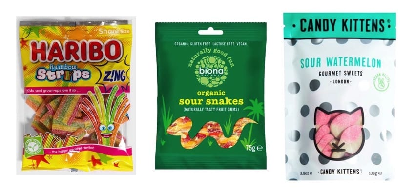 Vegan Sour Patch Kids alternatives