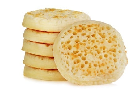 Stack of crumpets