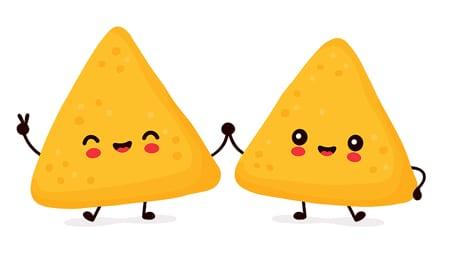 Cartoon tortilla chips
