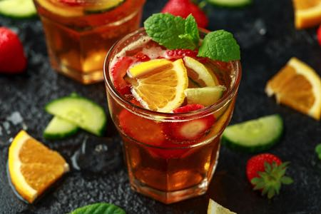 Glass of Pimm's