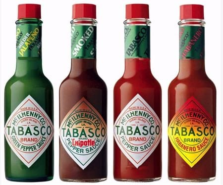 Types of Tabasco sauce