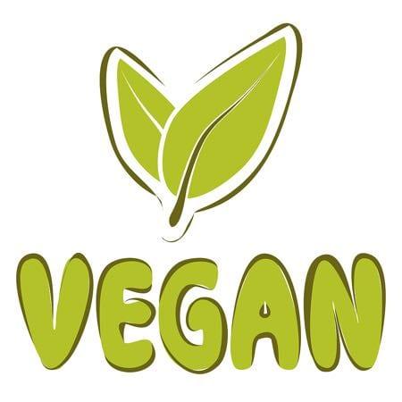 Vegan sign leaf