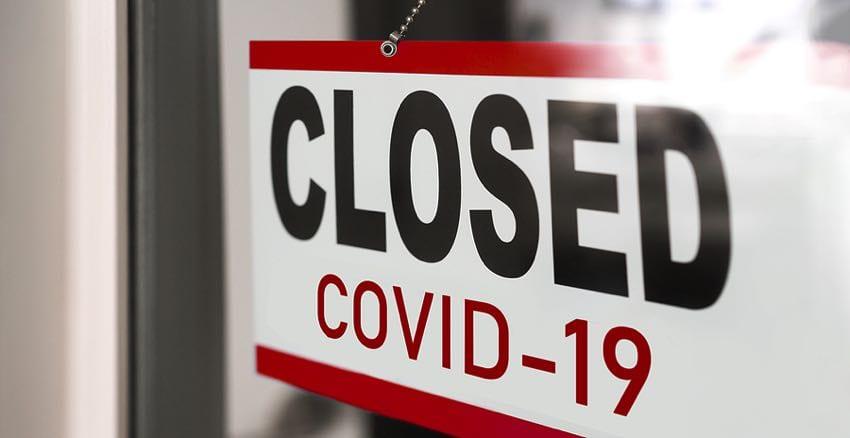 Closed sign: Covid-19