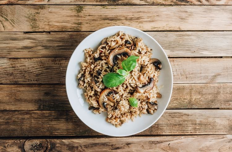 Risotto is not usually vegan