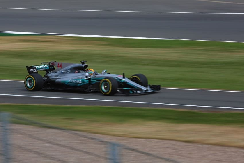 Hamilton at the 2017 British Grand Prix