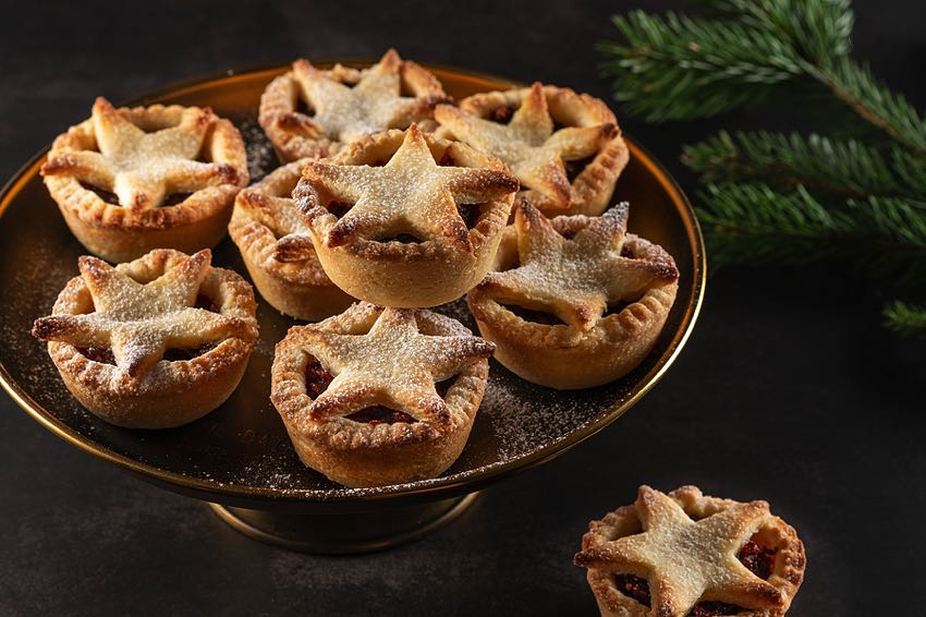 Plate of homemade mince pies