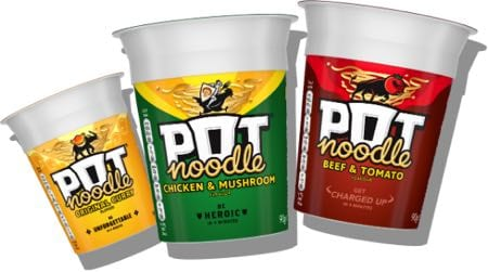 Pot Noodle selection