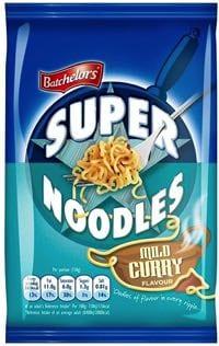 Super Noodles Mild Curry is vegan