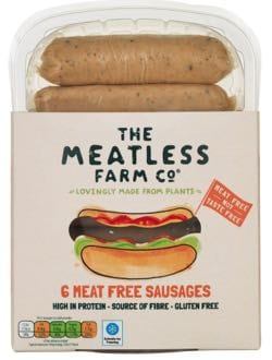 The Meatless Farm Co Vegan Sausages