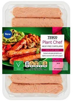 Tesco Plant Chef Sausages