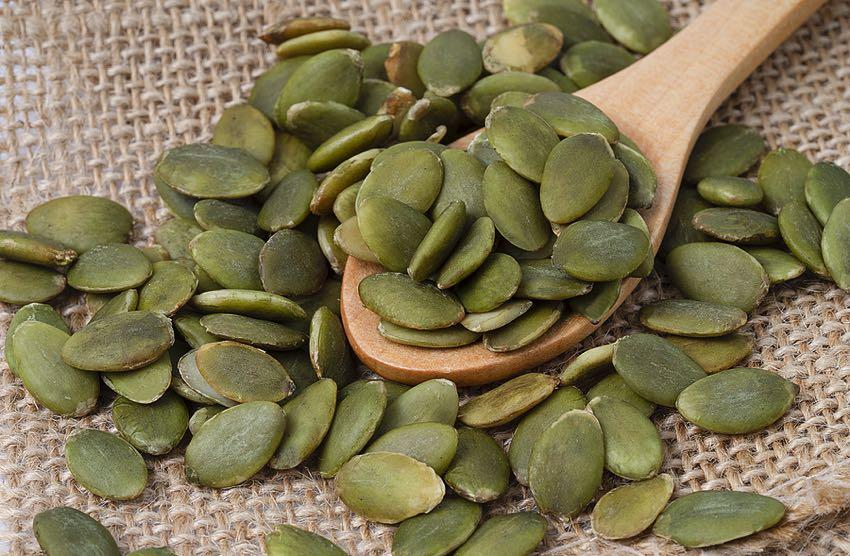 Raw pumpkins seeds
