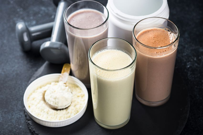 Different protein drinks