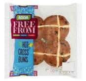 Asda Free From 4 Hot Cross Buns